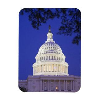 Rotunda of U.S. Capitol at night, Washington Rectangle Magnets
