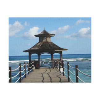 Rotunda on the coast stretched canvas prints