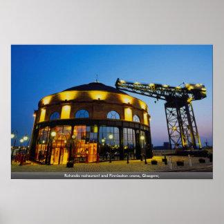 Rotunda restaurant and Finnieston crane, Glasgow, Poster