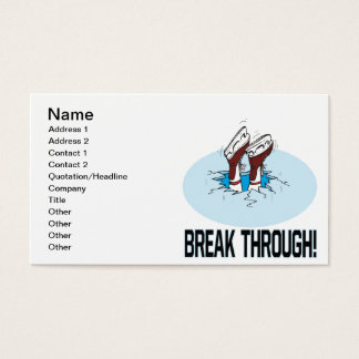 Rotura a través tarjetas de visita