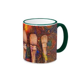Rotura de los artistas tazas de café
