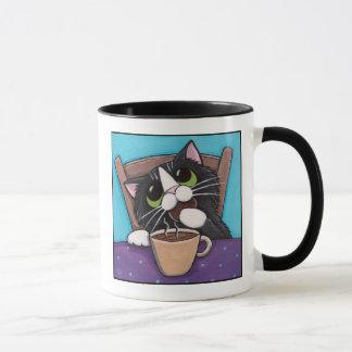 Rotura de té - taza del gato