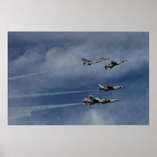 Rotura del delta de los Thunderbirds del U.S.A.F. Póster