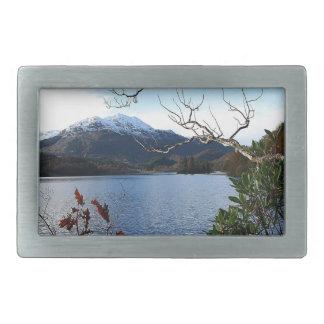 Rotura del otoño de las montañas del agua hebillas cinturón rectangulares