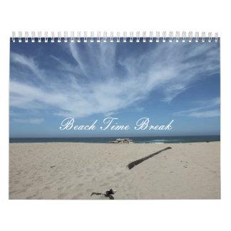 Rotura del tiempo de la playa calendario