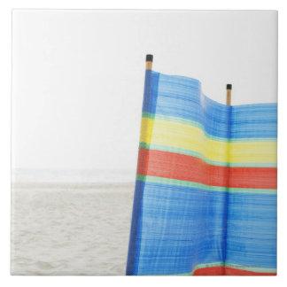 Rotura del viento en la playa azulejo ceramica