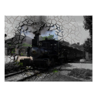 Rotura en el tren directo posters