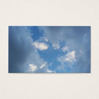 Rotura en las nubes tarjetas de visita