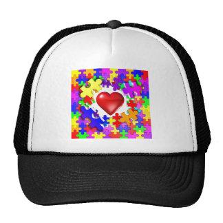 Roturas del amor con autismo gorras de camionero