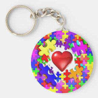Roturas del amor con autismo llavero personalizado