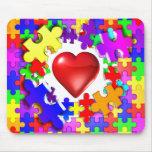 Roturas del amor con autismo tapetes de ratón