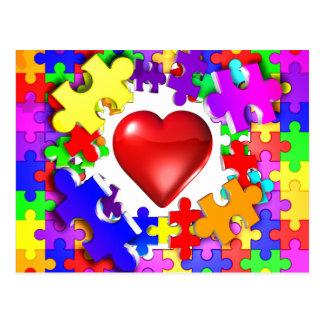 Roturas del amor con autismo postales