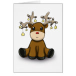 Roudolf with Yellow Stars Greeting Card