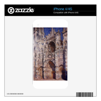 Rouen Cathedral 01 by Claude Monet Skin For iPhone 4