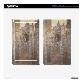 Rouen Cathedral 02 by Claude Monet Decals For Kindle Fire