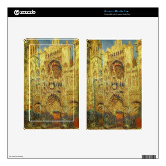 Rouen Cathedral at Sunset by Claude Monet Kindle Fire Skin