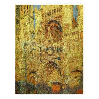Rouen Cathedral at Sunset by Claude Monet Postcard