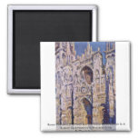 Rouen Cathedral By Claude Monet Refrigerator Magnet
