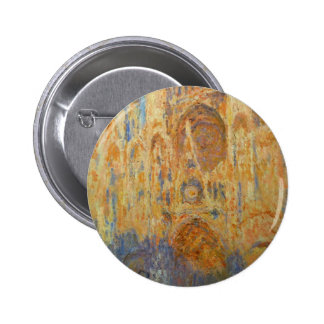 Rouen Cathedral by Claude Monet Pinback Button