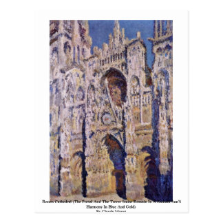 Rouen Cathedral By Claude Monet Postcard