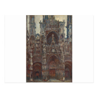 Rouen Cathedral, evening, harmony in brown Postcard
