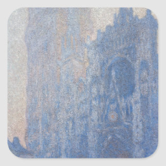 Rouen Cathedral Facade Tour d Albane by Monet Sticker