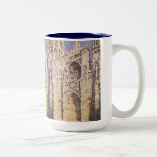 Rouen Cathedral, Full Sunlight by Claude Monet Two-Tone Coffee Mug