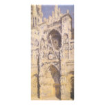 Rouen Cathedral, Full Sunlight by Claude Monet Customized Rack Card