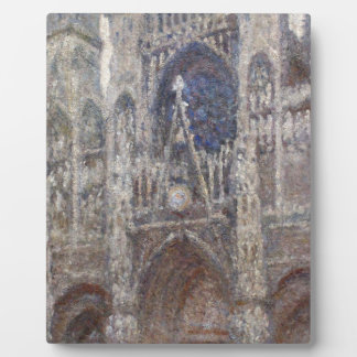Rouen Cathedral, Grey Weather by Claude Monet Plaque