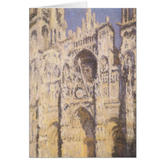 Rouen Cathedral, Harmony Blue Gold by Claude Monet Card