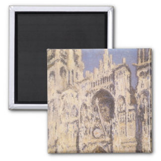 Rouen Cathedral, Harmony Blue Gold by Claude Monet Magnet