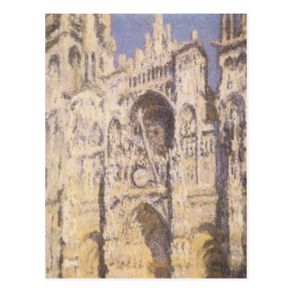Rouen Cathedral, Harmony Blue Gold by Claude Monet Postcard