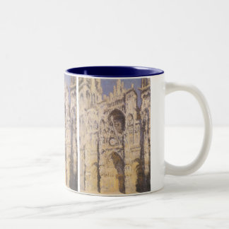 Rouen Cathedral, Harmony Blue Gold by Claude Monet Two-Tone Coffee Mug