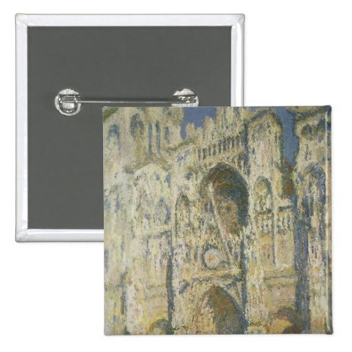 Rouen Cathedral in Full Sunlight 2 Inch Square Button