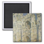 Rouen Cathedral in Full Sunlight 2 Inch Square Magnet