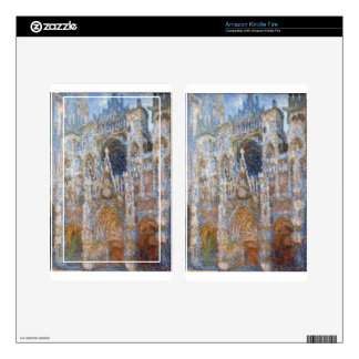 Rouen Cathedral, Magic in Blue by Claude Monet Kindle Fire Skin