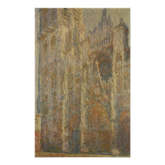 Rouen Cathedral, Midday, 1894 Poster