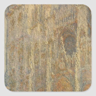 Rouen Cathedral, Midday, 1894 Square Sticker