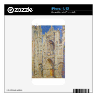 Rouen Cathedral, Portal in the Sun by Claude Monet Decal For The iPhone 4S