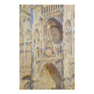 Rouen Cathedral, Portal in the Sun by Claude Monet Stationery