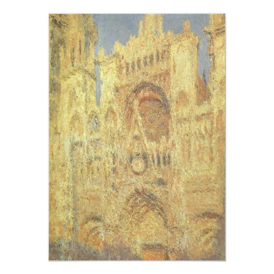 Rouen Cathedral, Sunset by Claude Monet Card