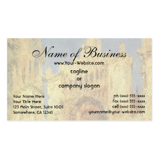 Rouen Cathedral, Sunset by Claude Monet Double-Sided Standard Business Cards (Pack Of 100)