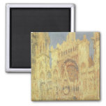 Rouen Cathedral, Sunset by Claude Monet Refrigerator Magnet