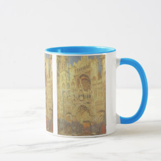 Rouen Cathedral, Sunset by Claude Monet Mug