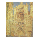 Rouen Cathedral, Sunset by Claude Monet Postcard