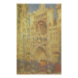 Rouen Cathedral, Sunset by Claude Monet Posters
