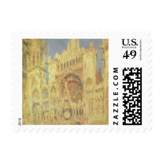 Rouen Cathedral, Sunset by Claude Monet Stamp