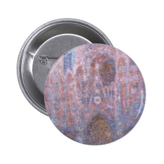 Rouen Cathedral, Symphony in Grey and Rose Pinback Button