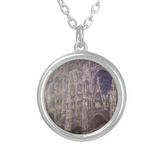 Rouen Cathedral, The Portal and the Tour d'Albene, Silver Plated Necklace