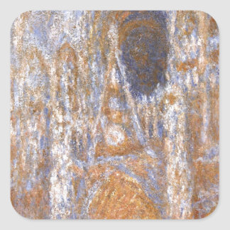 Rouen Cathedral, The Portal at Midday by Claude Square Sticker